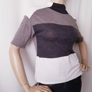Zara W/B Collection Color Block Top Size Medium